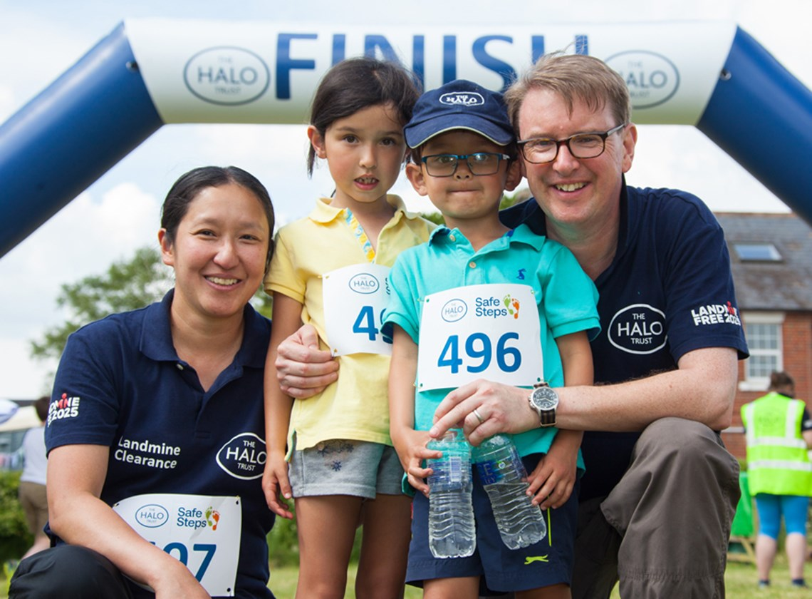Four-year-old-William and six-year-old Alex conquer their first ever 15km