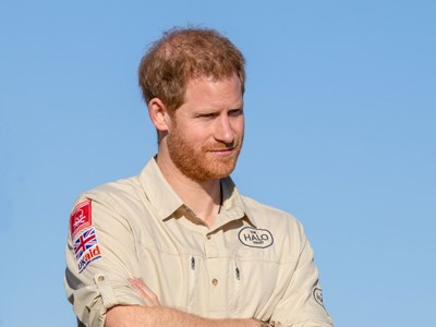Prince Harry visits a minefield, Dirico, Angola.